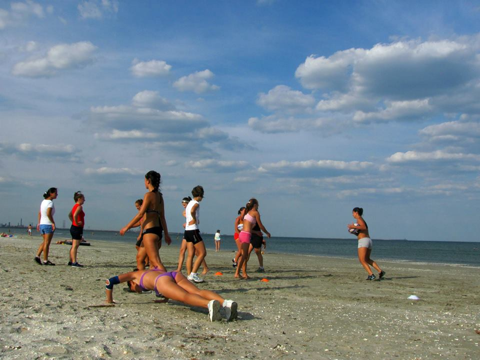 Rugbistele de Cluj la mare