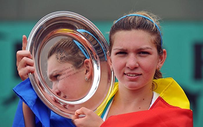 Simona Halep la Roland Garros junior